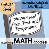 Math Doodles INB Bundle 14 - Measurement, Time and Temperature
