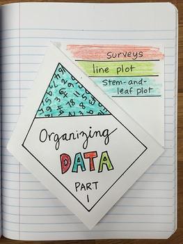 Math Doodles Interactive Notebook Bundle 18 - Graphs and Data