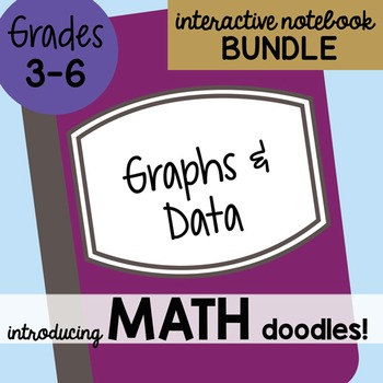 Doodle Notes - Math Doodles Interactive Notebook Bundle 18 - Graphs and Data