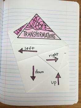 Math Doodles Interactive Notebook Bundle 19 - Transformations