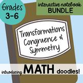 Doodle Notes - Math Doodles Interactive Notebook Bundle 19 - Transformations