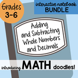Math Interactive Notebook Bundle 2 - Adding & Subtracting Numbers