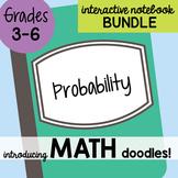 Math Doodles Interactive Notebook Bundle 20 - Probability