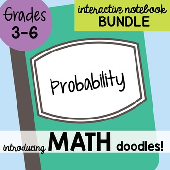 Math Doodles Interactive Notebook Bundle 20 - Probability