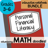 Math Doodles Interactive Notebook Bundle 21 - Personal Financial Literacy