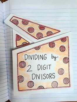 Math Doodles Interactive Notebook Bundle 5 - Dividing by 2 Digit Divisors