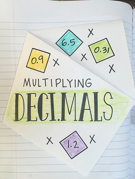 Math Doodles Interactive Notebook Bundle 7 - Multiplying and Dividing Decimals
