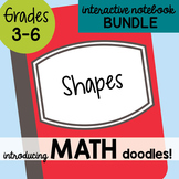 Math Doodles Interactive Notebook Bundle 8 - Shapes