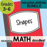 Math Interactive Notebook Bundle 8 - Shapes