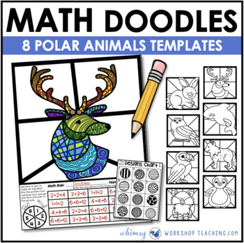 Math Doodles POLAR ANIMALS - Math Art Writing