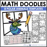 Math Doodles POLAR ANIMALS - Math Art Writing