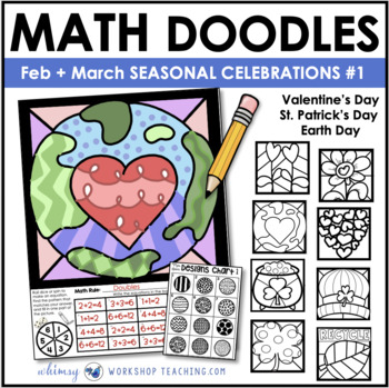 Math Doodles SPRING CELEBRATIONS - Math Art Writing