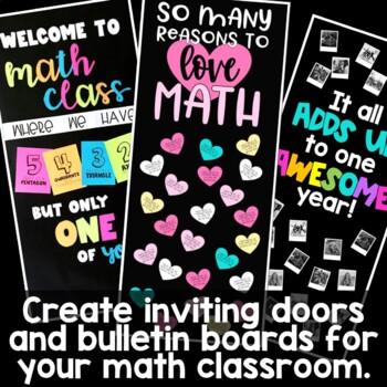 Math Door Decoration Bundle, Growing