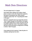 Math Dots - fun math practice to use with any content