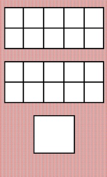 Math Double 10 Frame with Number Square for Writing the Number