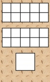 Math Double 10 Frame with Number Square for Writing the Number (Natural)
