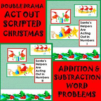 Math Double Drama Addition/Subtraction Word Problems to Ac