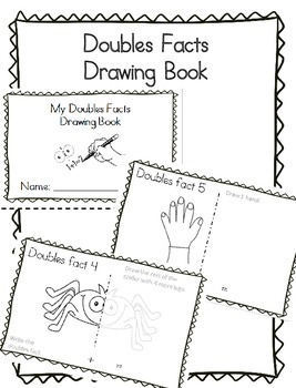 Math Doubles Facts Drawing Mini-Book