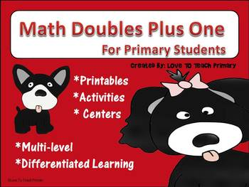 Dog Math Doubles Plus One