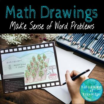 Math Drawings - Help students visualize and make sense of word problems!