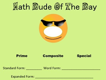 Math Dude Printable or Digital