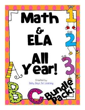 Math & ELA All Year! *Bundle Pack*