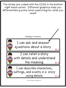 First Grade I Can Statements