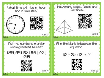 Math & ELA End of the Year Review with QR Codes - Lemonade Mini-Unit