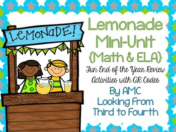 Math & ELA End of the Year Review with QR Codes - Lemonade