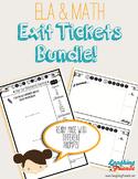 Math & ELA Exit Ticket Bundle