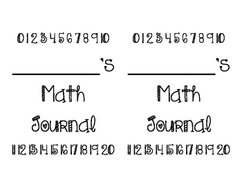 Math & ELA Journal Covers
