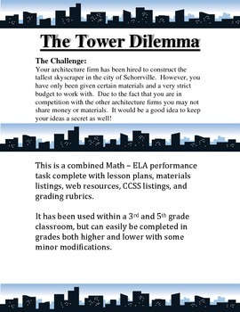 Math / ELA Performance Task - The Tower Dilemma