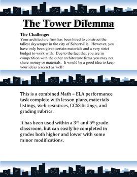 Math / ELA Performance Task - The Tower Dilemma