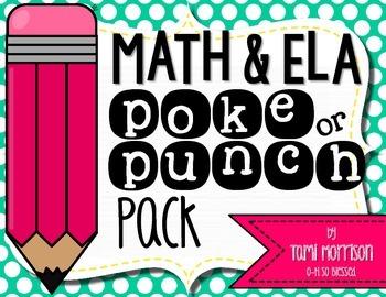 Math & ELA Poke Pack! {15 total games!}