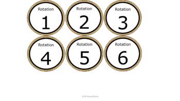 Math & ELA Rotation Chart - Burlap