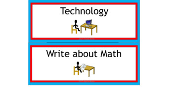Math & ELA Rotation Chart - Dr. Seuss Tribute Colors