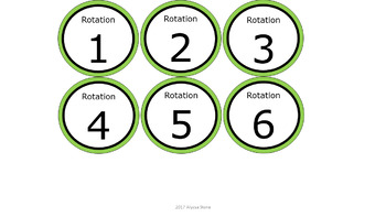 Math & ELA Rotation Chart - Green
