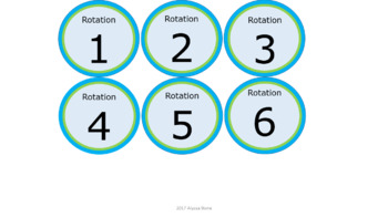 Math & ELA Rotation Chart - Lime & Teal