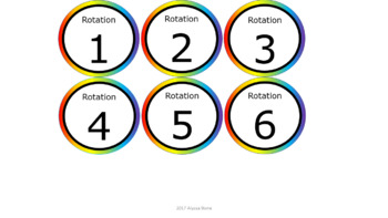 Math & ELA Rotation Chart - Noah's Rainbow