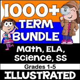 Math, ELA, Science & Social Studies Vocabulary Bundle