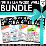 Math & ELA Word Wall Bundle: Grade 4