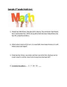 Math & ELA cumulative 3rd grade test