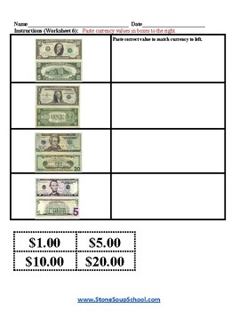 K - 2 Math - Gifted and Talented - Identify Bill Amounts