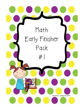 Math Early Finisher Pack #1