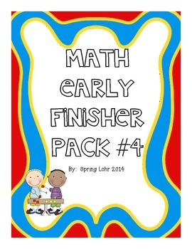 Math Early Finisher Pack #4