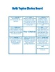 Math Early Finishers Choice Boards