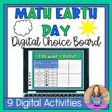 Math Earth Day Digital Choice Board