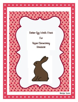 Math Easter Egg Hunt for Upper Elementary Students