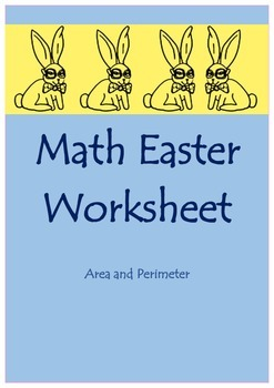 Math Easter Worksheet (Area and Perimeter)