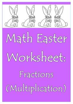 Math Easter Worksheet (Fractions) With Original Artwork
